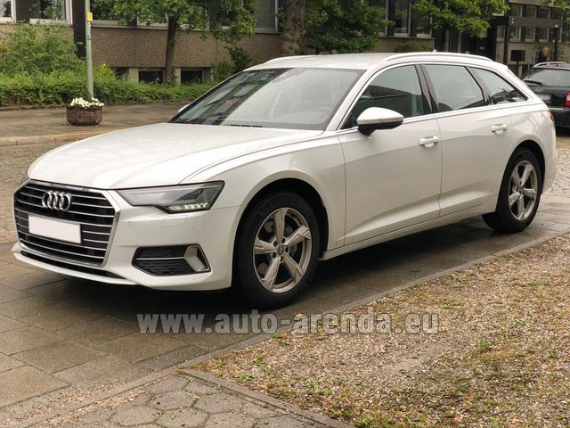 Hire and delivery to Vienna International Airport the car Audi A6 40 TDI Quattro Estate