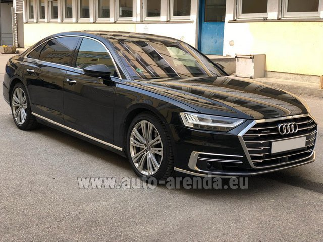 Transfer from Flachau to Munich by Audi A8 Long 50 TDI Quattro car