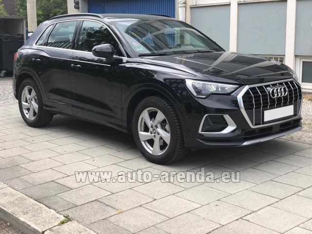 Hire and delivery to Vienna International Airport the car Audi Q3 35 TFSI Quattro