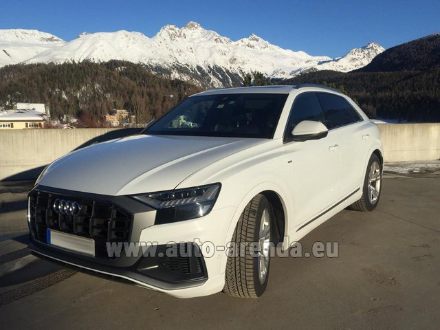 Hire and delivery to Vienna International Airport the car Audi Q8 50 TDI Quattro