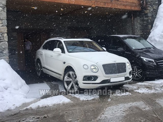 Transfer from Galtur to Munich Airport General Aviation Terminal GAT by Bentley Bentayga 6.0 litre twin turbo TSI W12 car