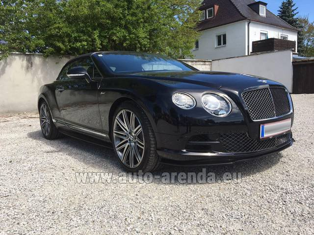 Rental Bentley Continental GTC V12-Speed in Vienna