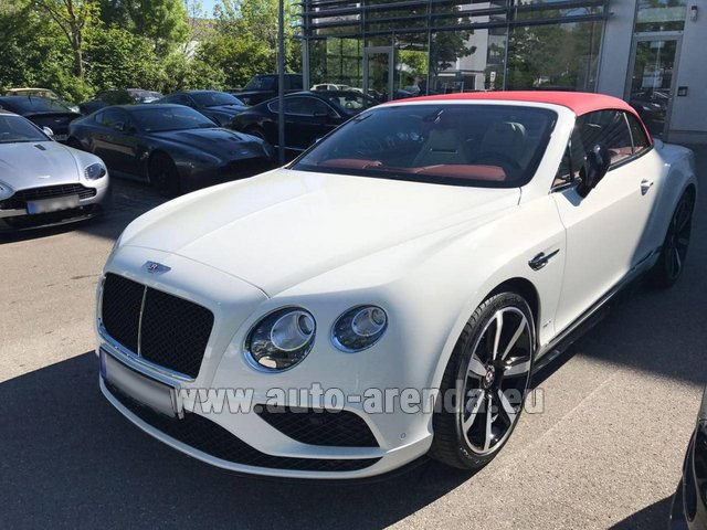 Rental Bentley Continental GTC V8 S in Linz