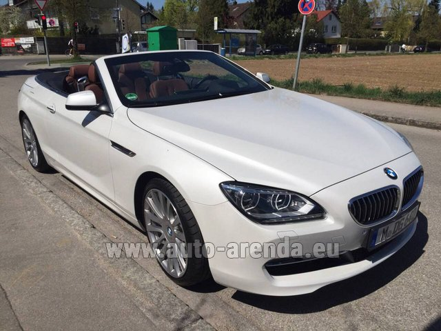 Rental BMW 640 Cabrio Equipment M-Sportpaket in Vienna