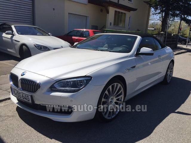 Rental BMW 640d Cabrio Equipment M-Sportpaket in Austria