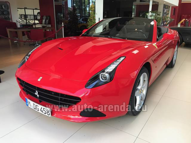 Rental Ferrari California T Convertible Red in Vienna