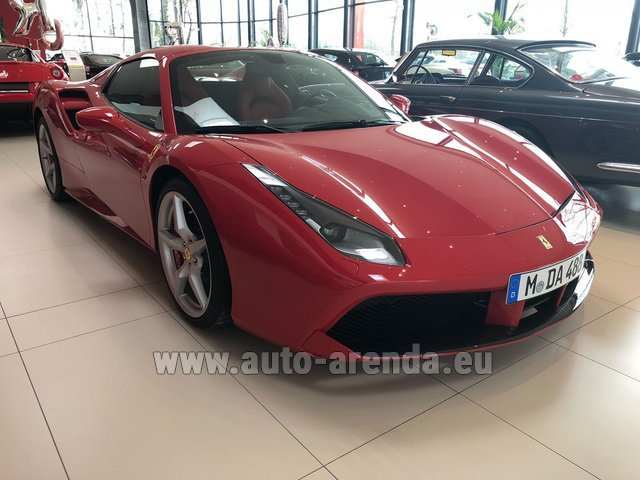 Rental Ferrari 488 Spider in Austria