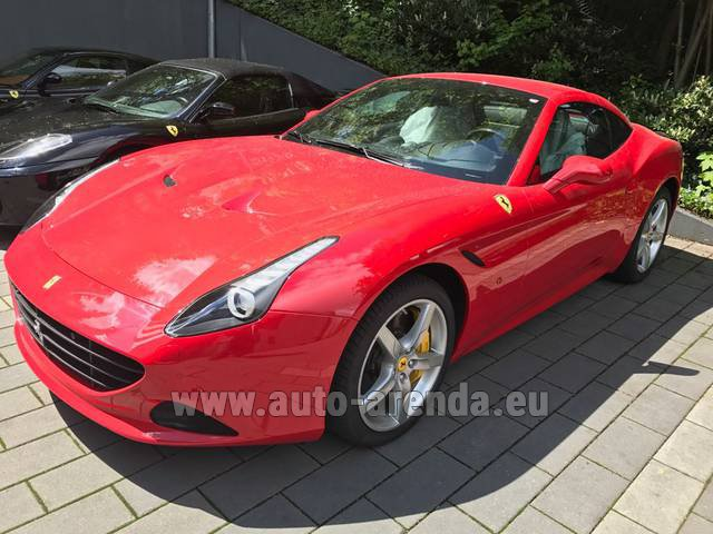 Rental Ferrari California T Cabrio Red in Austria