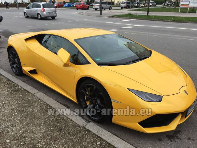 Rental Lamborghini Huracan LP 610-4 Yellow in Austria
