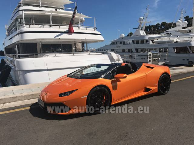 Hire and delivery to Vienna International Airport the car: Lamborghini Huracan Spyder Cabrio