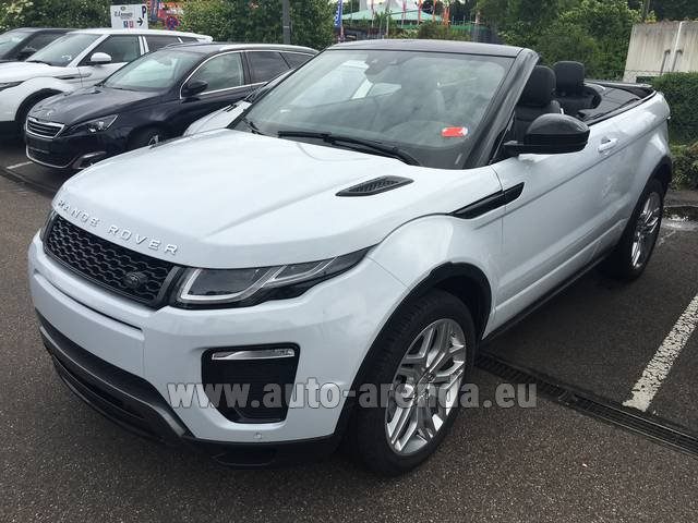Hire and delivery to Vienna International Airport the car Land Rover Range Rover Evoque HSE Cabrio SD4 Aut. Dynamic