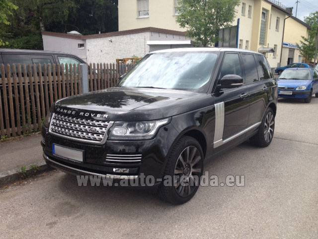 Hire and delivery to Vienna International Airport the car Land Rover Range Rover SDV8 Autobiography