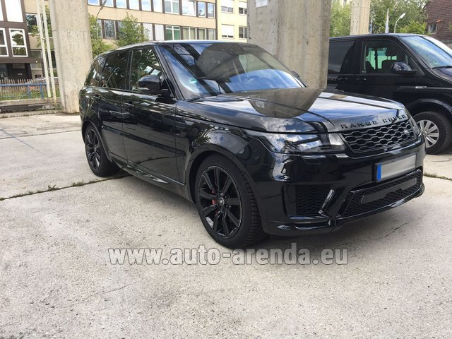 Hire and delivery to Vienna International Airport the car Land Rover Range Rover SPORT