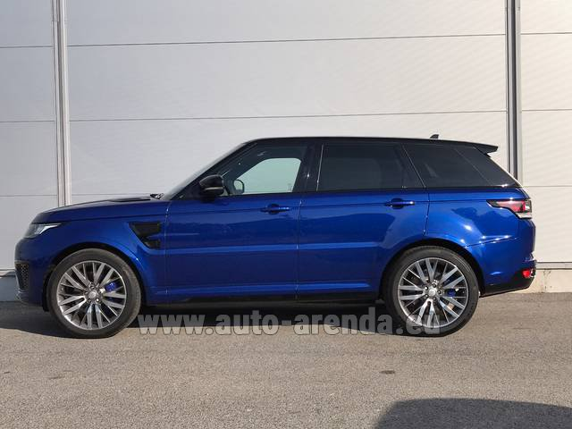 Hire and delivery to Vienna International Airport the car Land Rover Range Sport SVR V8