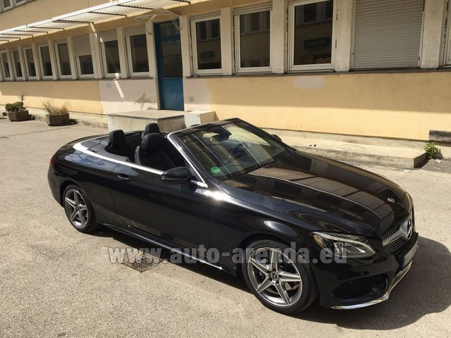 Rental Mercedes-Benz C 180 Cabrio AMG Equipment Black in Graz