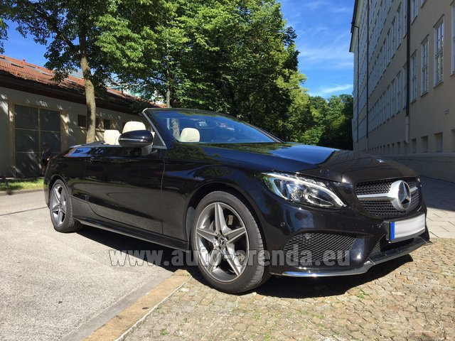 Rental Mercedes-Benz C-Class C 180 Cabrio AMG Equipment Black in Salzburg