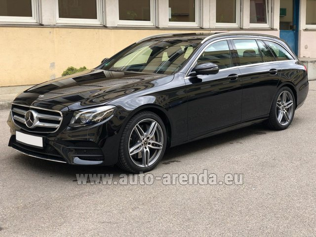 Rental Mercedes-Benz E 450 4MATIC T-Model AMG equipment in Graz