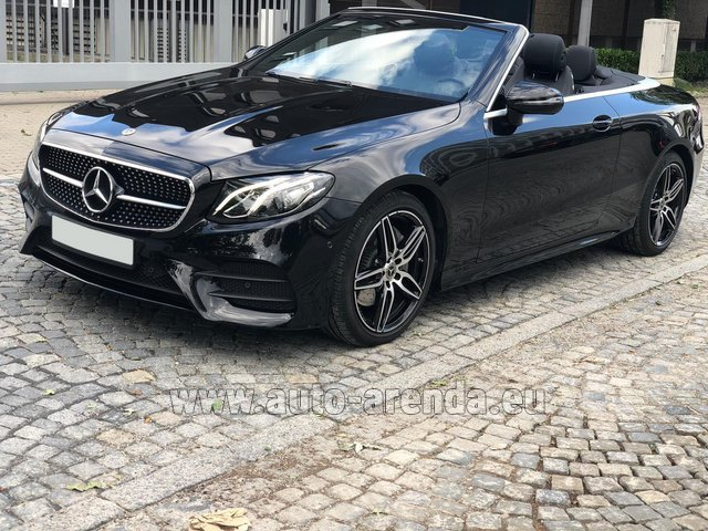 Rental Mercedes-Benz E-Class E220d Cabriolet AMG equipment in Vienna