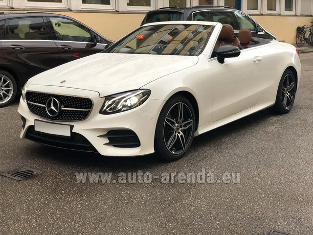 Rental Mercedes-Benz E-Class E300d Cabriolet diesel AMG equipment in Vienna
