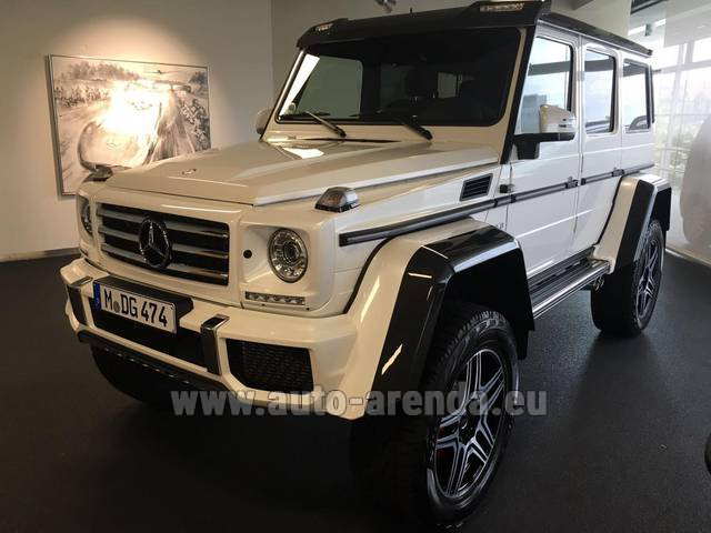 Rental Mercedes-Benz G 500 4x4 White in Vienna