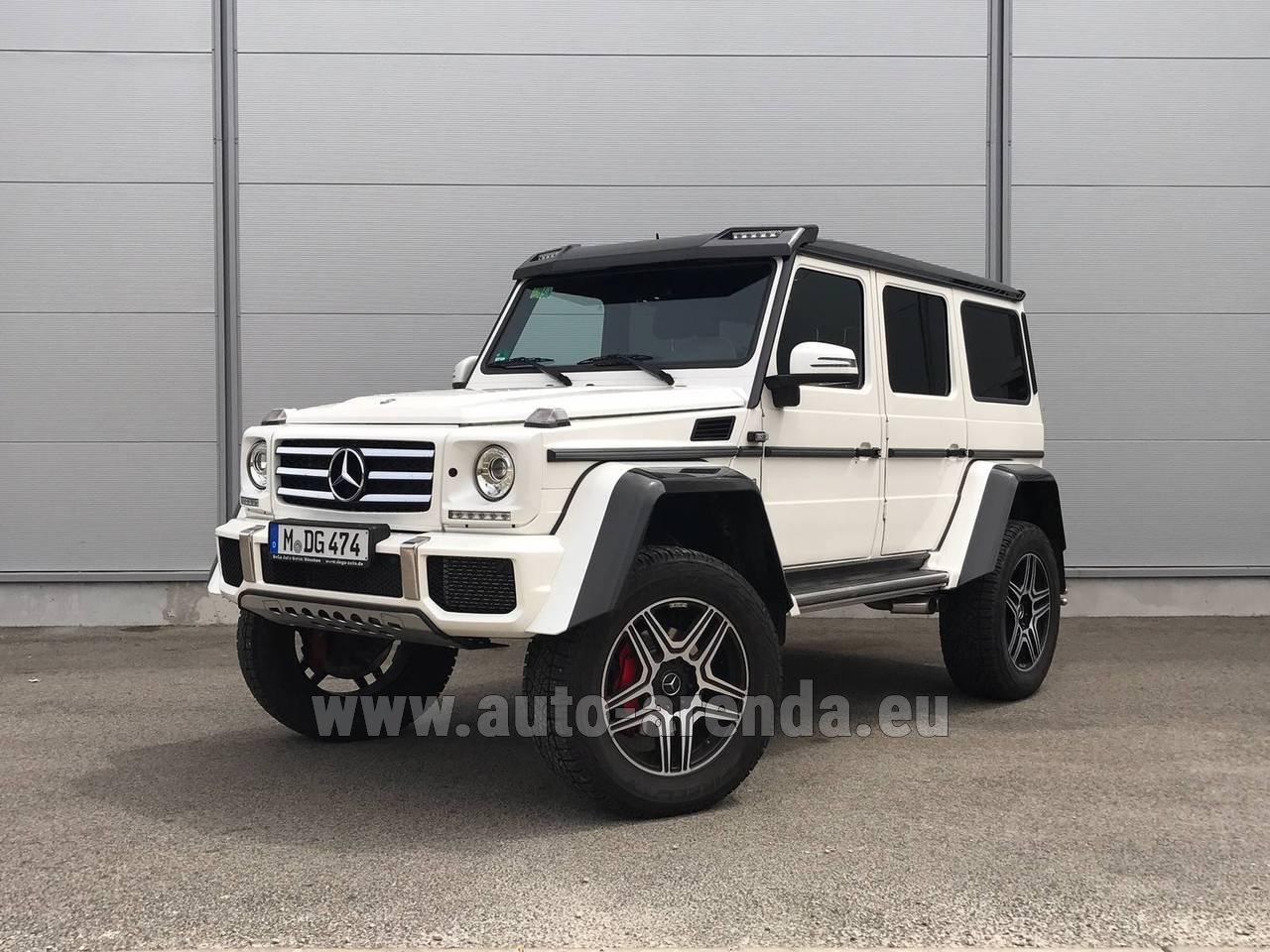 Rent the Mercedes-Benz G 500 4x4 White car in Austria
