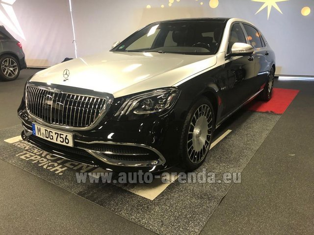 Трансфер из Финкенберга в General Aviation Terminal GAT Аэропорт Мюнхена на автомобиле Maybach/Mercedes S 560 Extra Long 4MATIC комплектация AMG