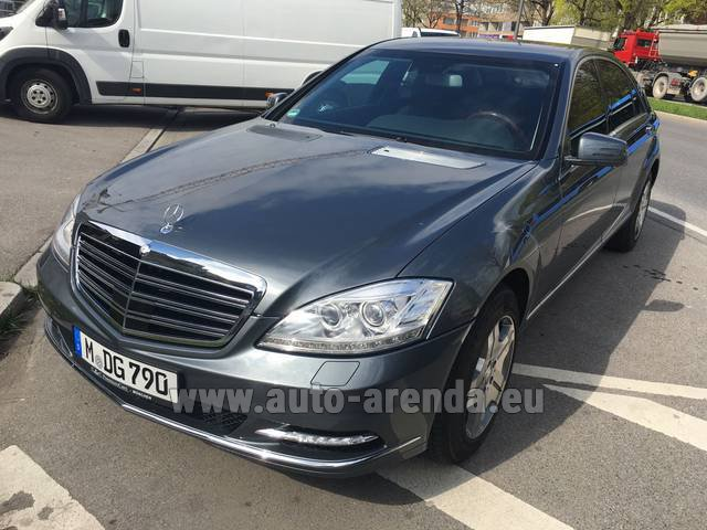 Transfer from Obertauern to Munich Airport by Mercedes S 600 Long B6 B7 GUARD 4MATIC car