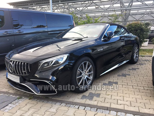 Rental Mercedes-Benz S 63 AMG Cabriolet V8 BITURBO 4MATIC+ in Vienna