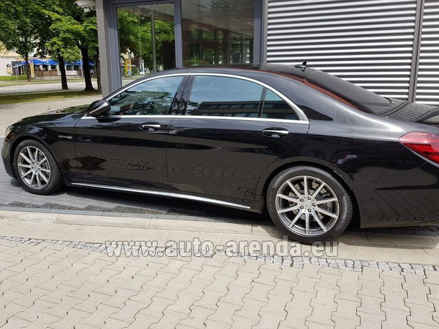 Transfer from Flachau to Munich by Mercedes S63 AMG Long 4MATIC car