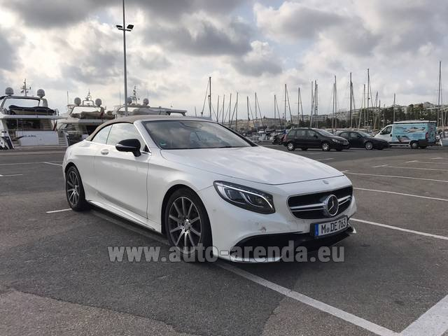 Rental Mercedes-Benz S 63 Cabrio AMG in Austria