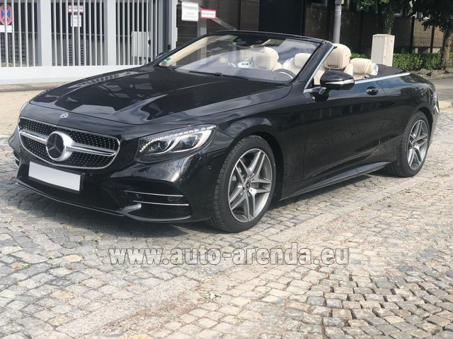 Rental Mercedes-Benz S-Class S 560 Cabriolet 4Matic AMG equipment in Vienna