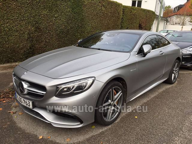 Rental Mercedes-Benz S-Class S63 AMG Coupe in Graz