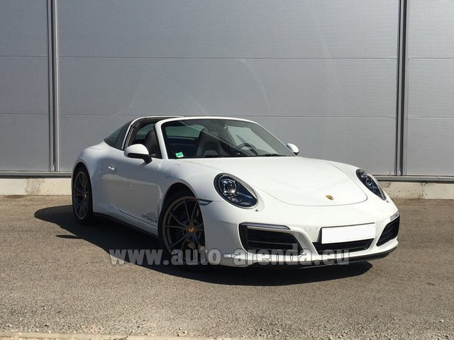 Rental Porsche 911 Targa 4S White in Vienna