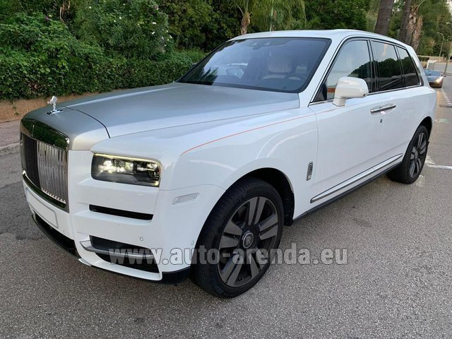 Transfer from Galtur to Munich Airport General Aviation Terminal GAT by Rolls-Royce Cullinan White car