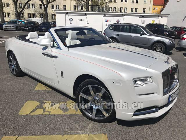 Rental Rolls-Royce Dawn (White) in Graz