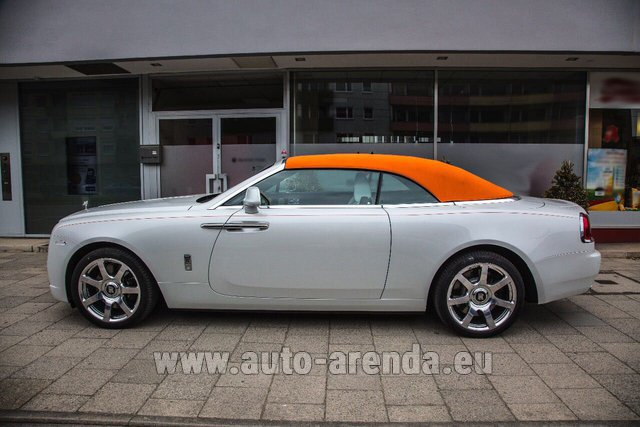 Rental Rolls-Royce Dawn White in Salzburg