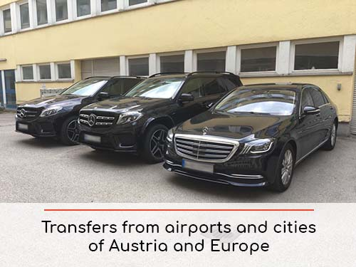 Transfers from airports and cities in Austria and Europe | Car rental with driver